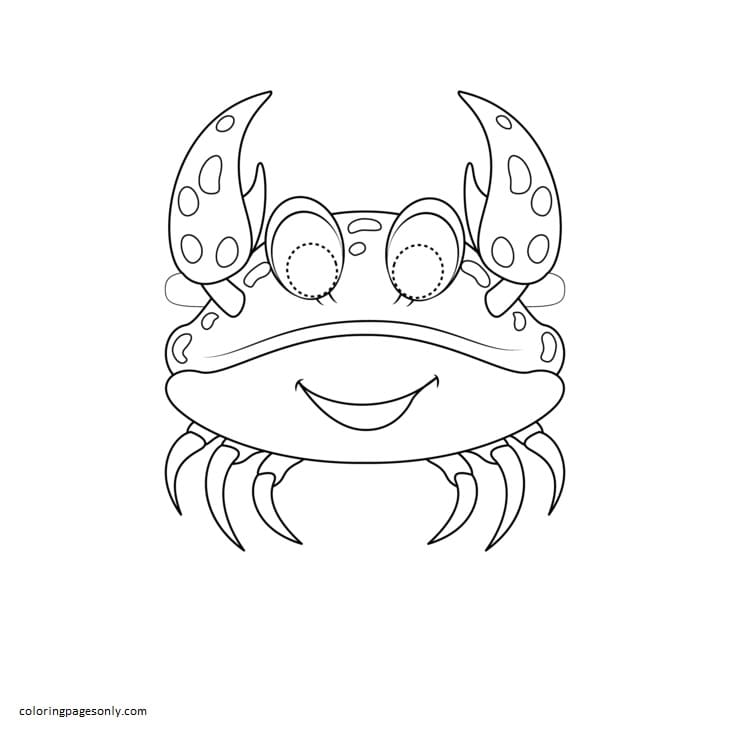 Crab Mask Coloring Page