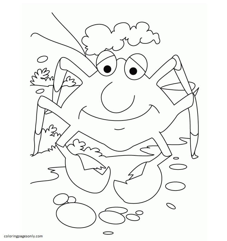 Crab Smile Coloring Page