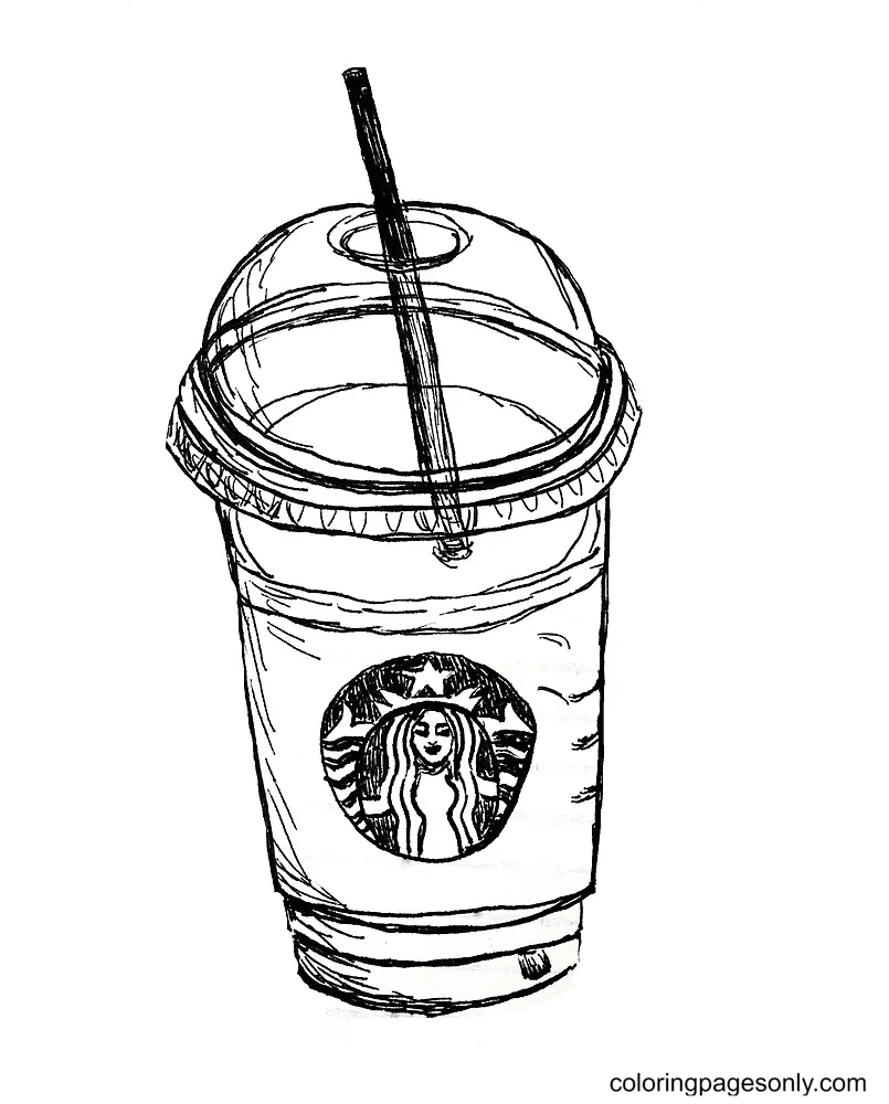 Cup Of Starbucks Coloring Page
