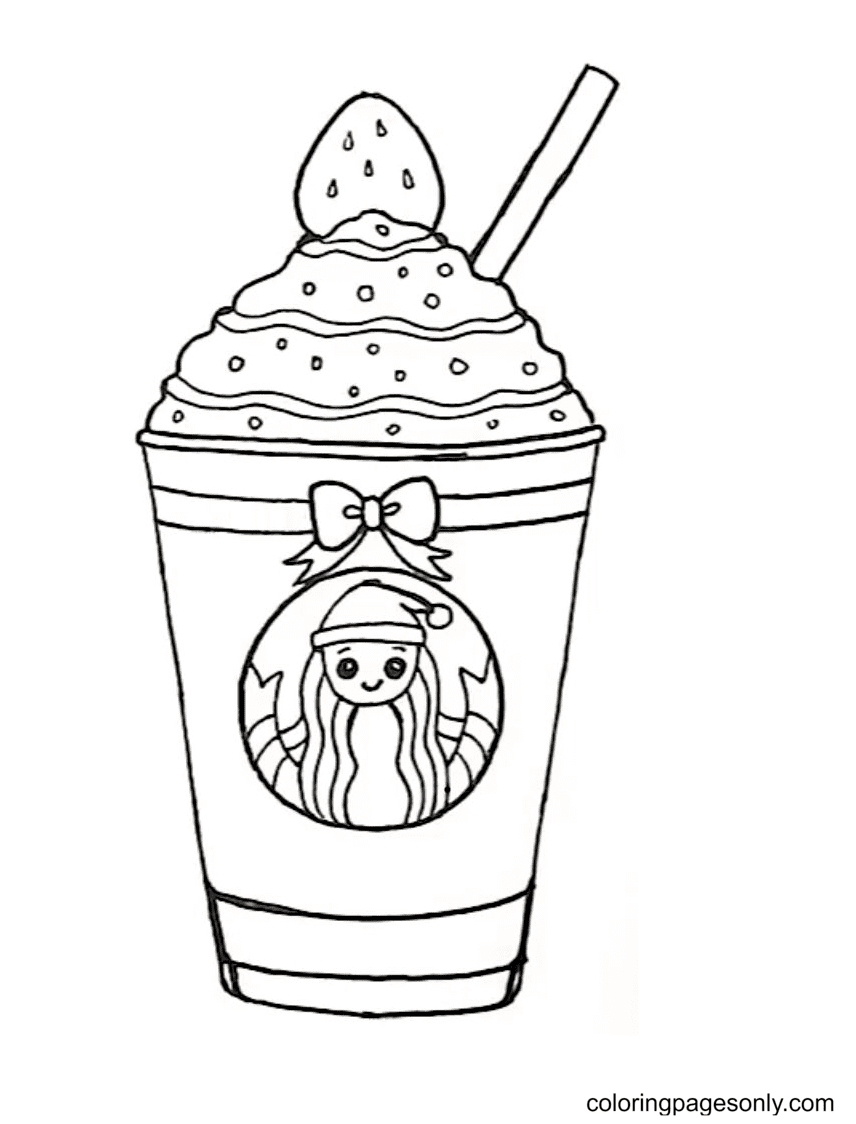 Cup Starbucks Drink Coloring Page
