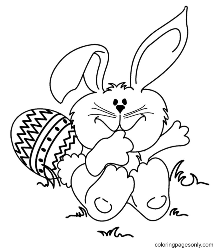 Cute Baby Easter Bunnies Coloring Page