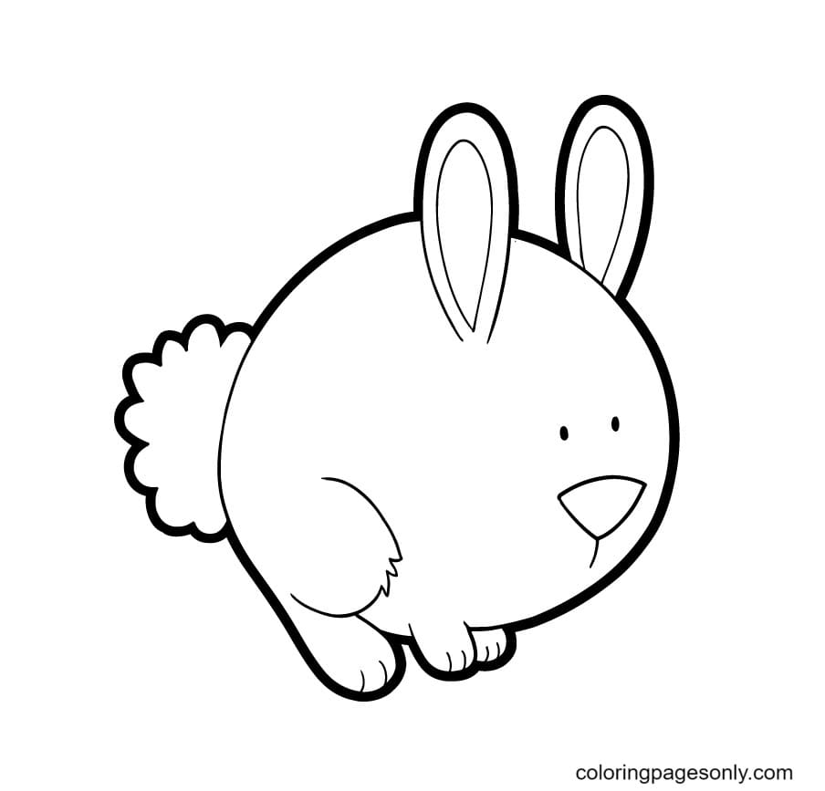 Cute Bunnies Print Coloring Page