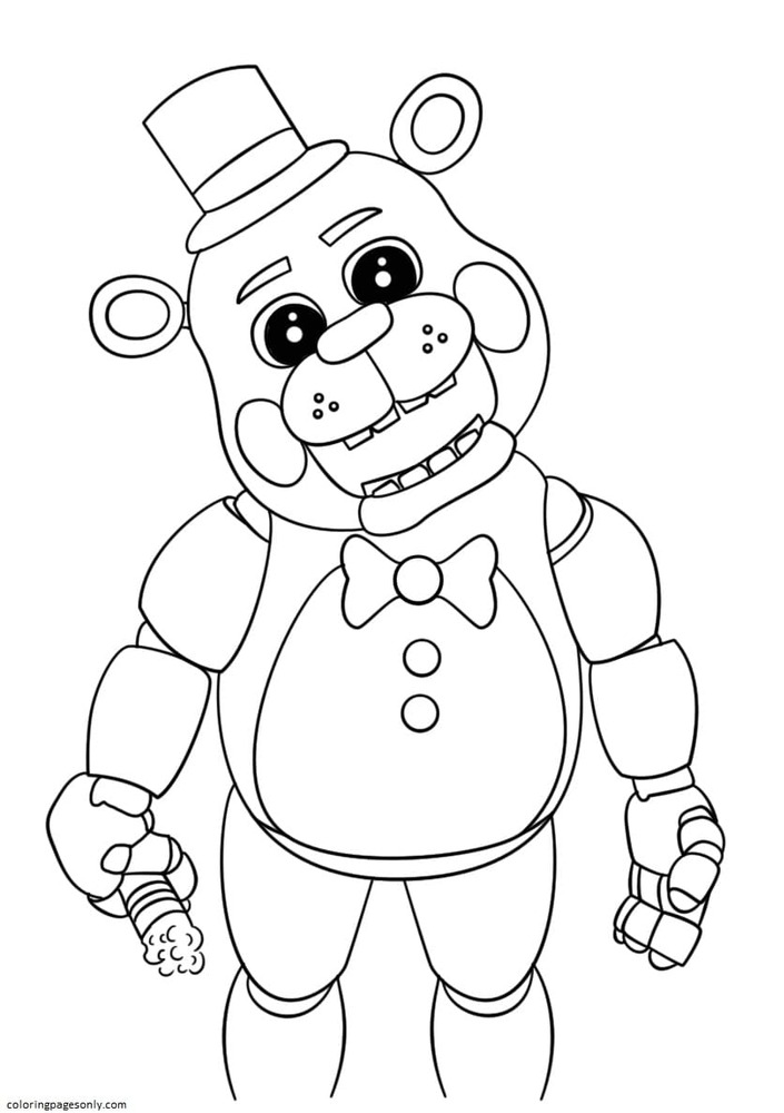 Cute Five Nights at Freddy's Coloring Page