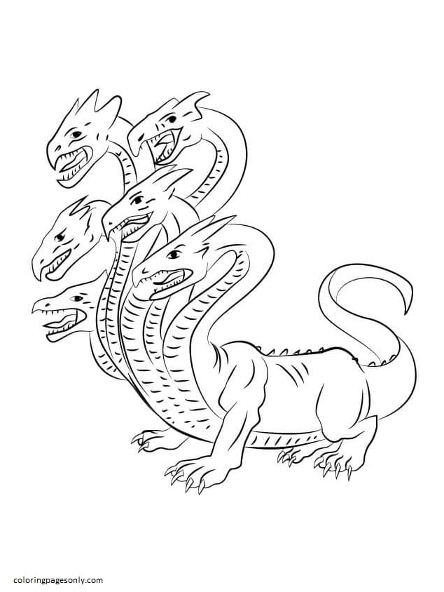 Cute Hydra Coloring Page