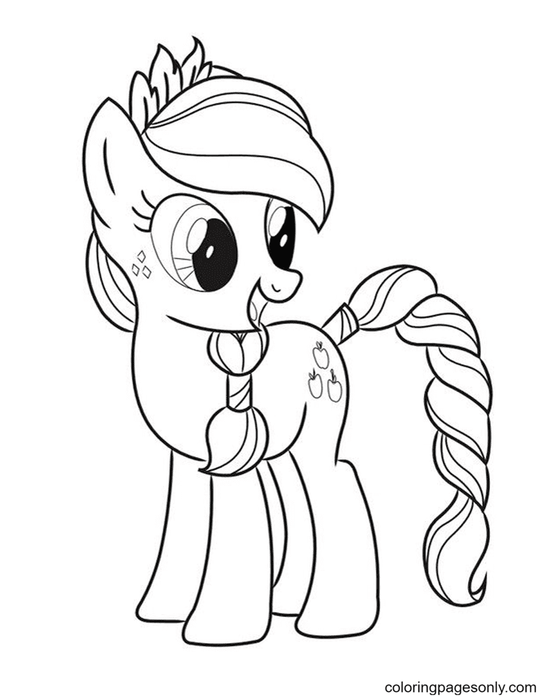 Cute Pony AppleJack Coloring Page