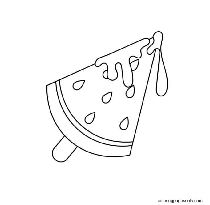 Cute Popsicle Coloring Page