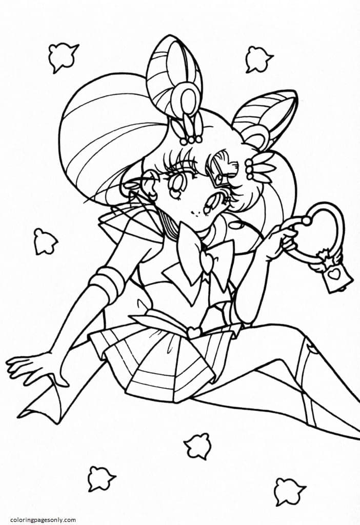 Cute Sailor Moon Coloring Page