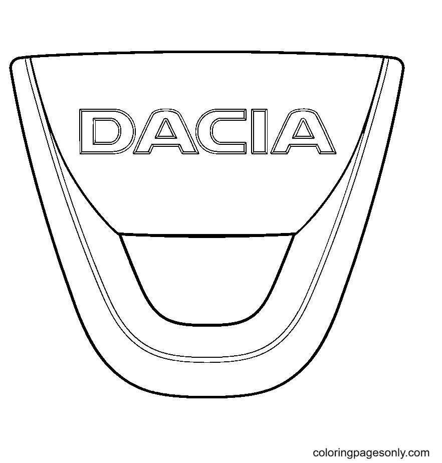 Dacia Logo Coloring Page