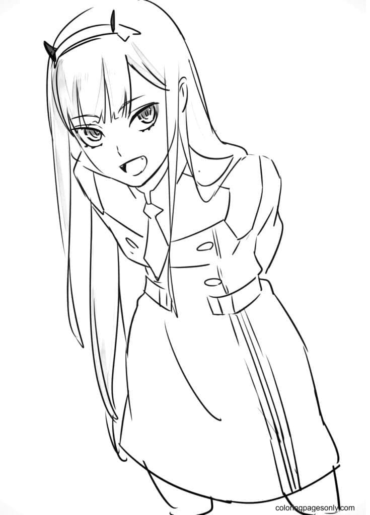 Darling In The Franxx Coloring Page