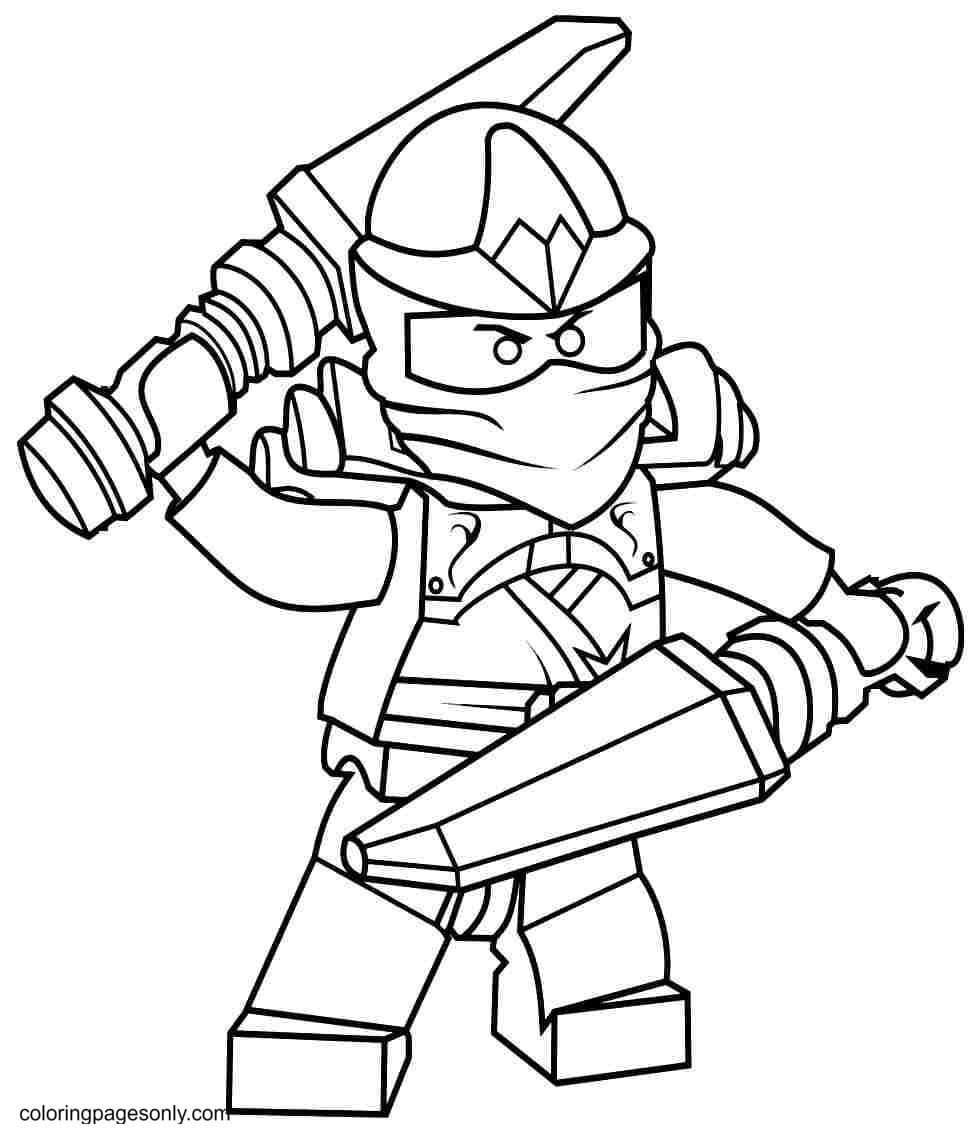 Defense Ninja Coloring Page