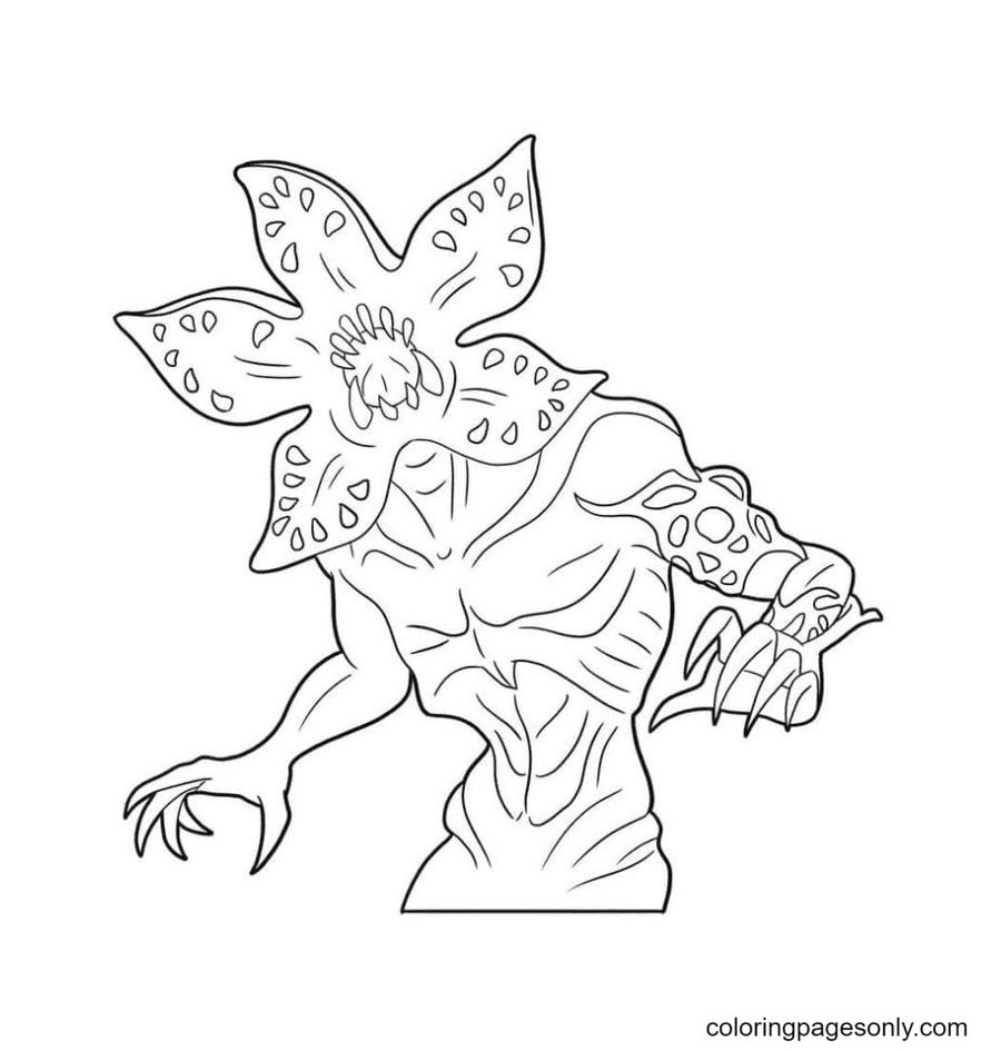 Demogorgon Stranger Things Coloring Page