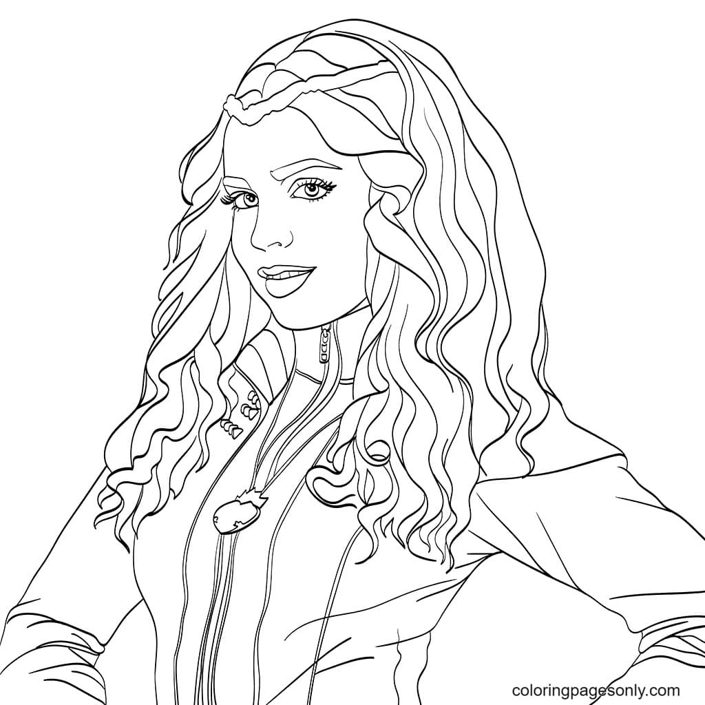 Descendents Characters Evie Coloring Page
