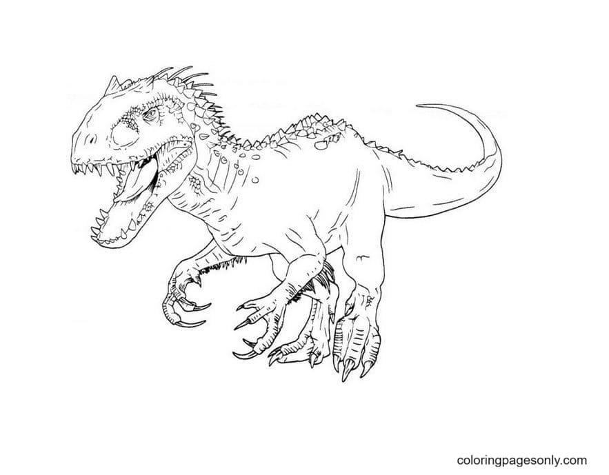 Dinosaur – Indominus Rex Coloring Page