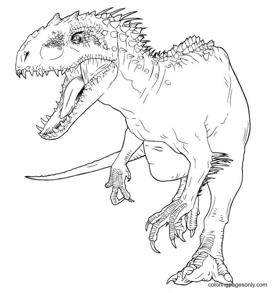 Dinosaur – Jurassic World T Rex Coloring Page