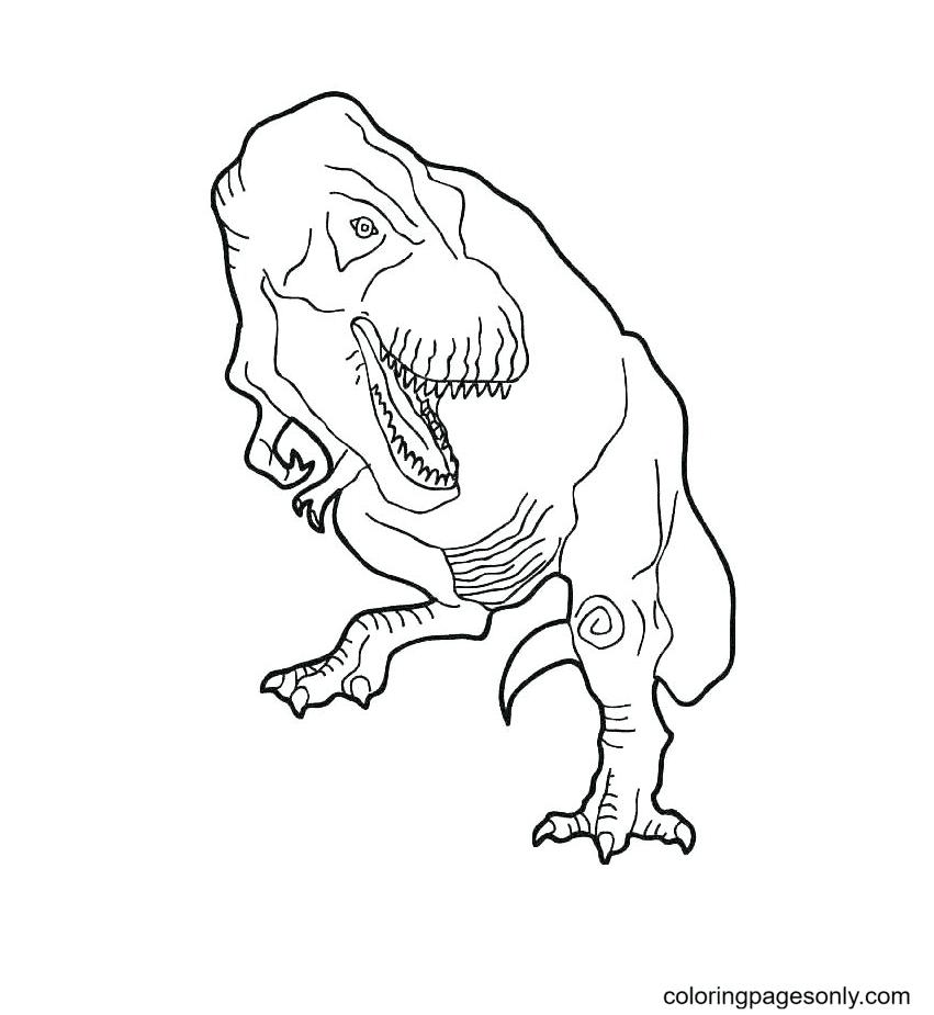 Dinosaur Jurassic World Coloring Page