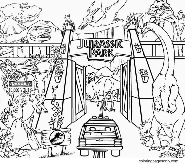 Dinosaur Picture Coloring Page