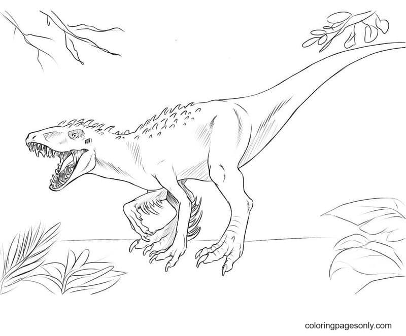 Dinosaurs Pictures and Facts Coloring Page