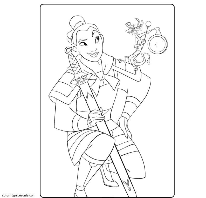 Disney Mulan Coloring Page