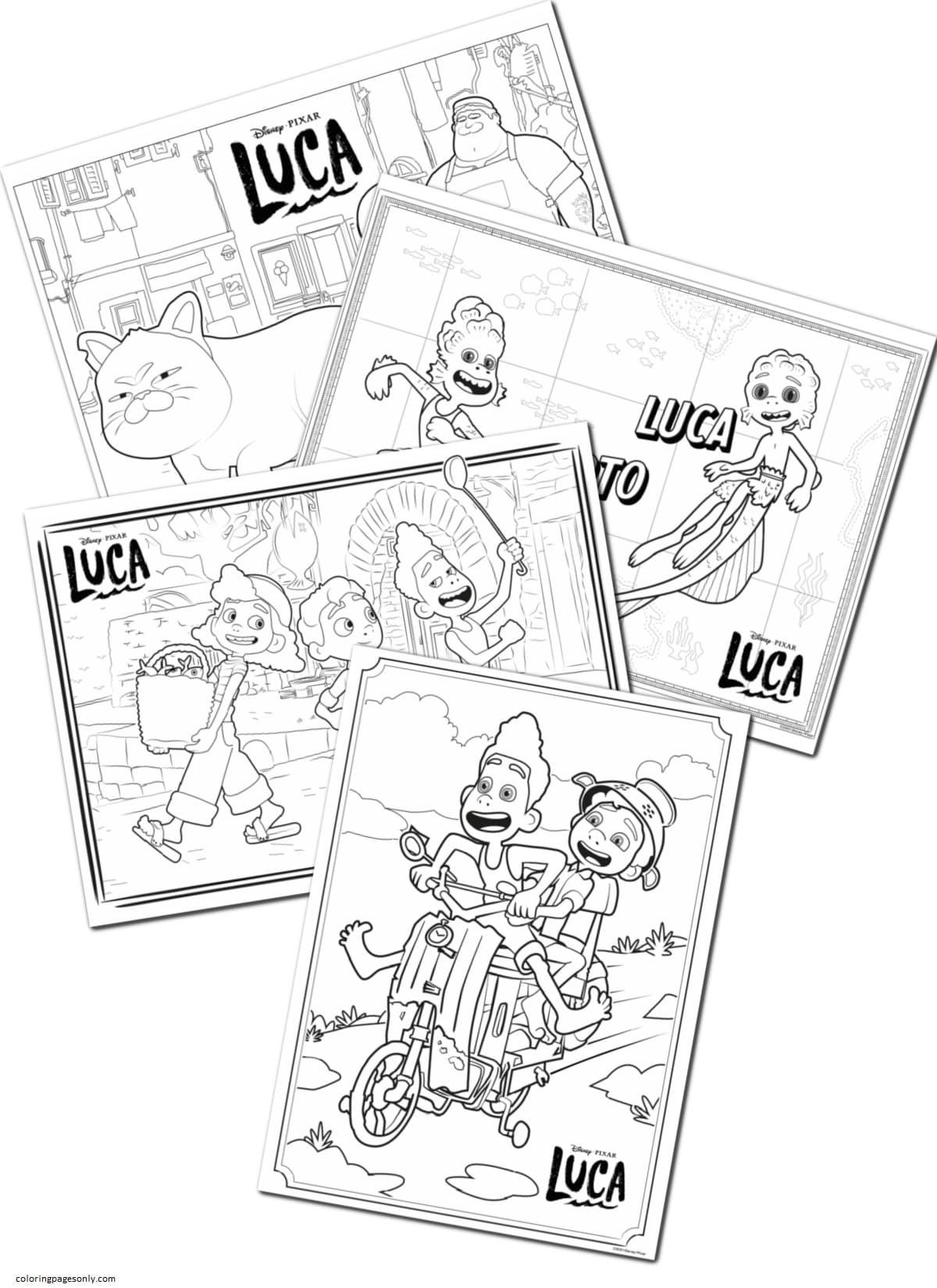 Disney Pixar Luca 1 Coloring Page
