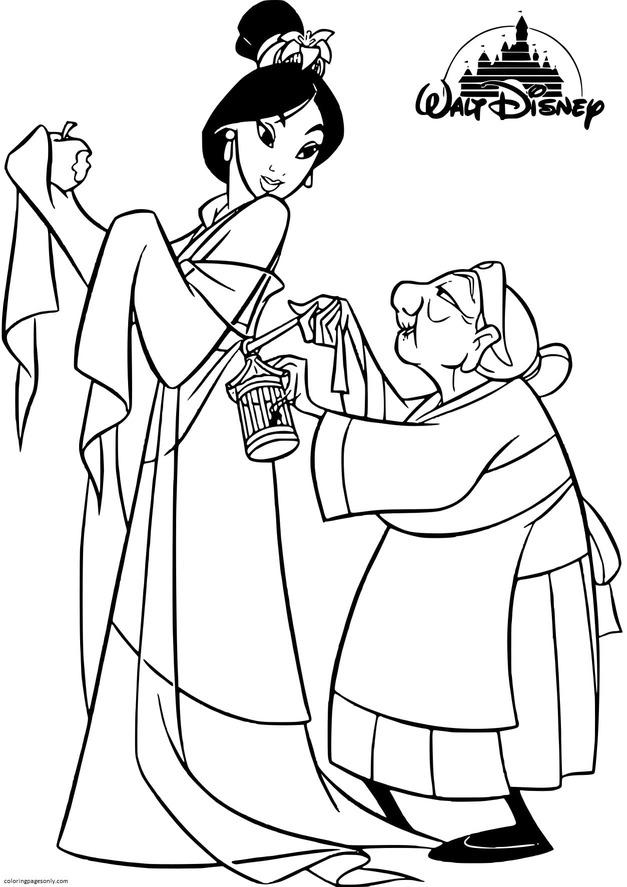 Disney Princess Mulan Coloring Page