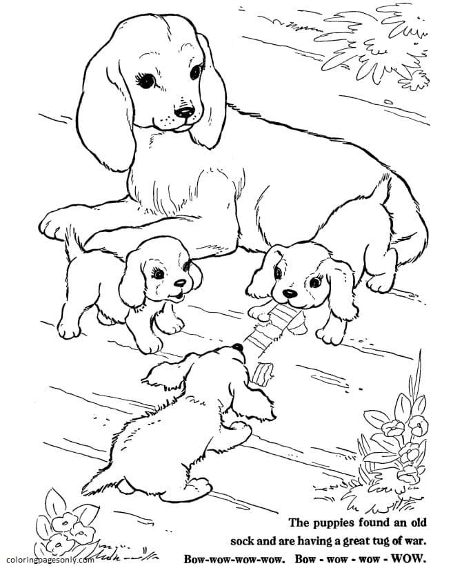 Dog-Farm Animal Coloring Page