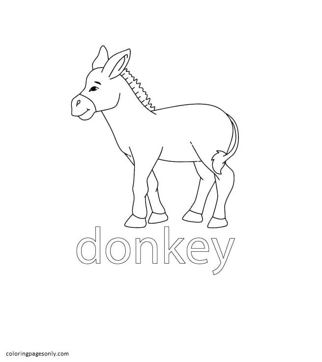Donkey Farm Coloring Page