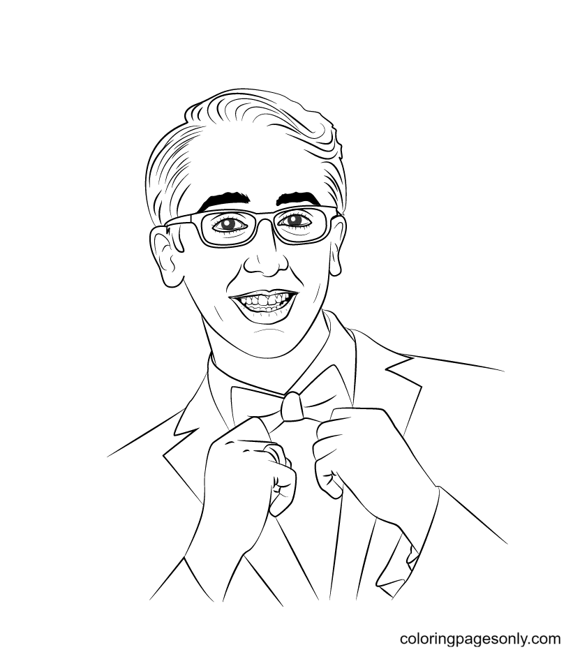 Doug from Descendants Coloring Page