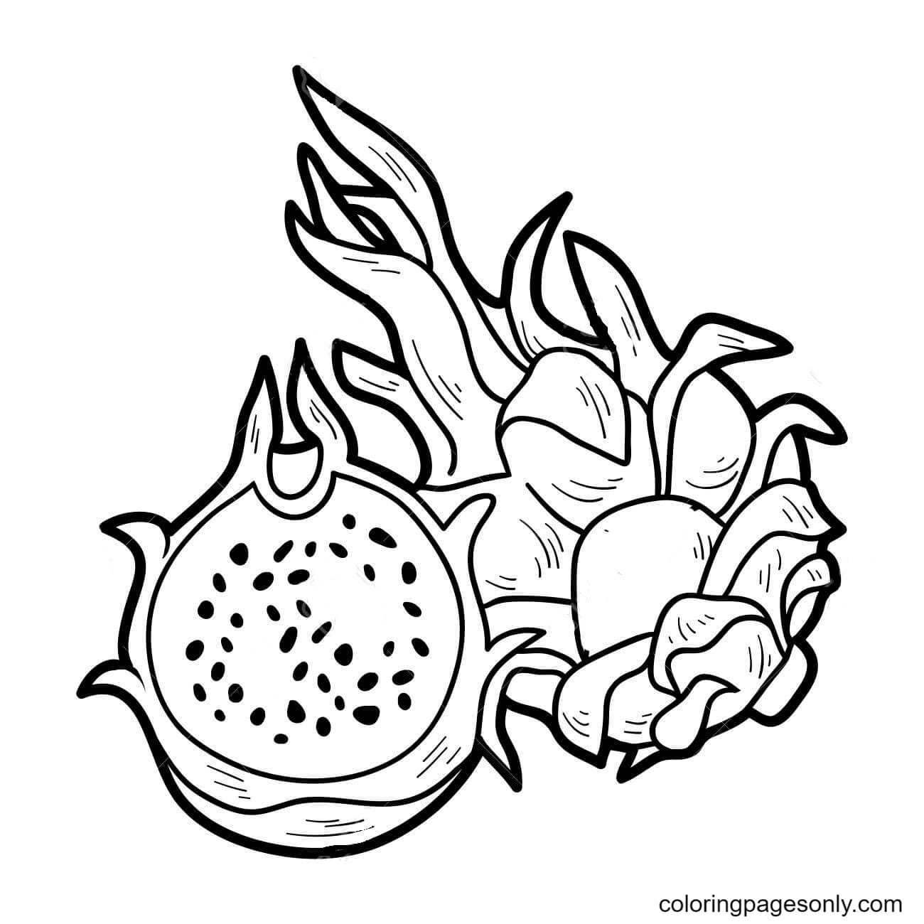 DragonFruit Coloring Page