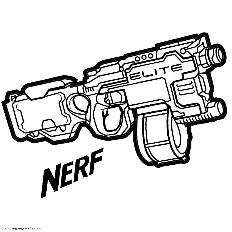 Elite Nerf Coloring Page