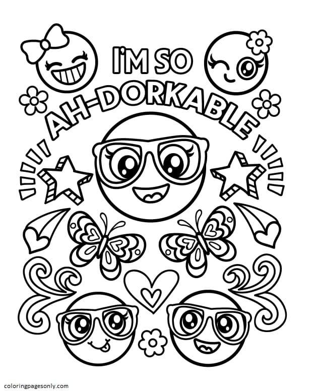 Emoji 8 Coloring Page