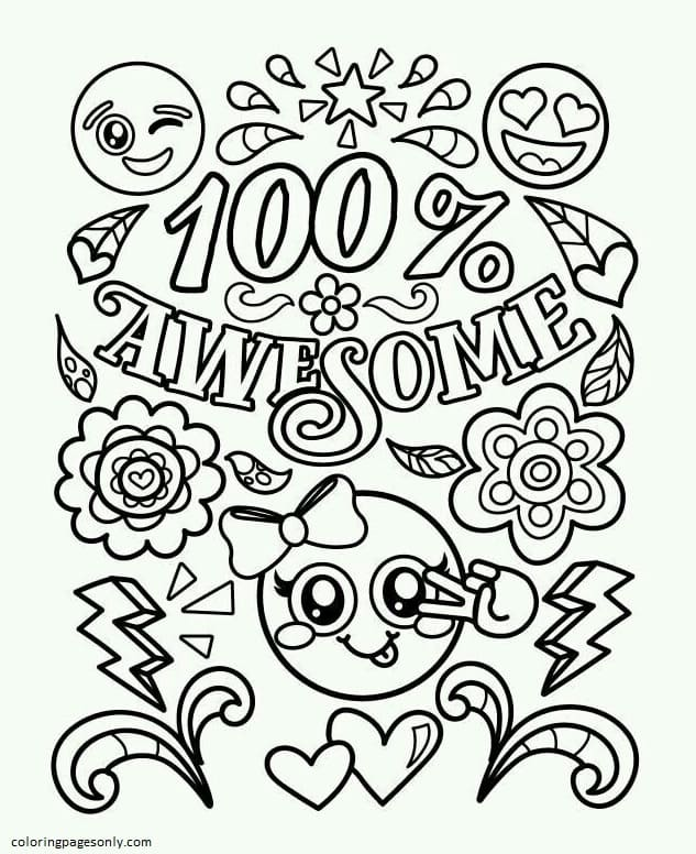 Emojis – AweSome Coloring Page