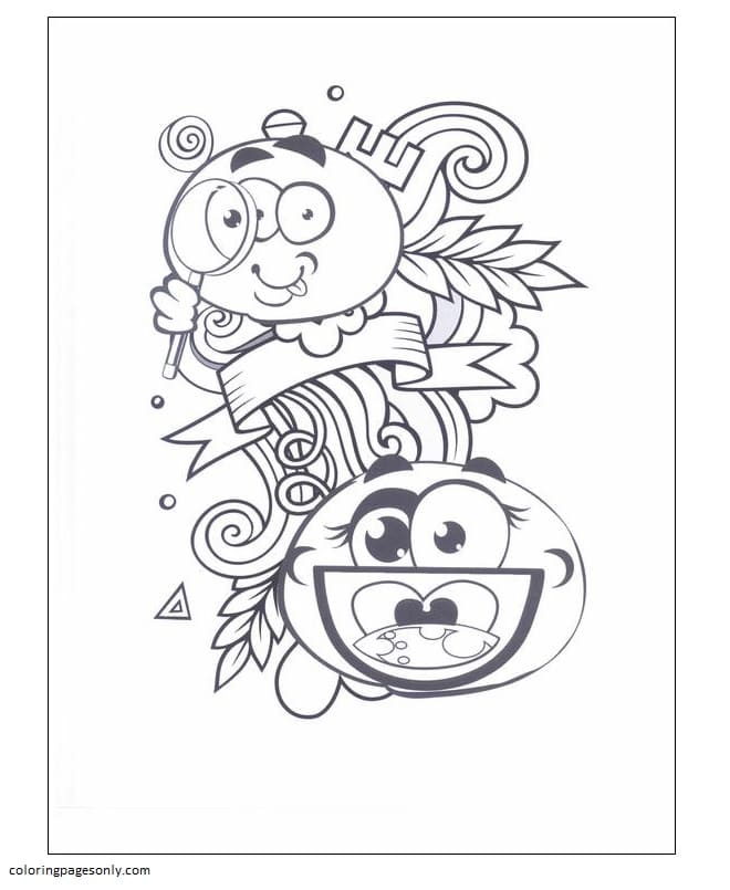 Emoticons 3 Coloring Page