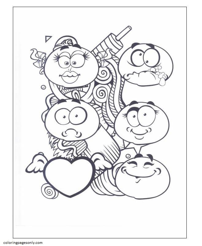 Emoticons 7 Coloring Page