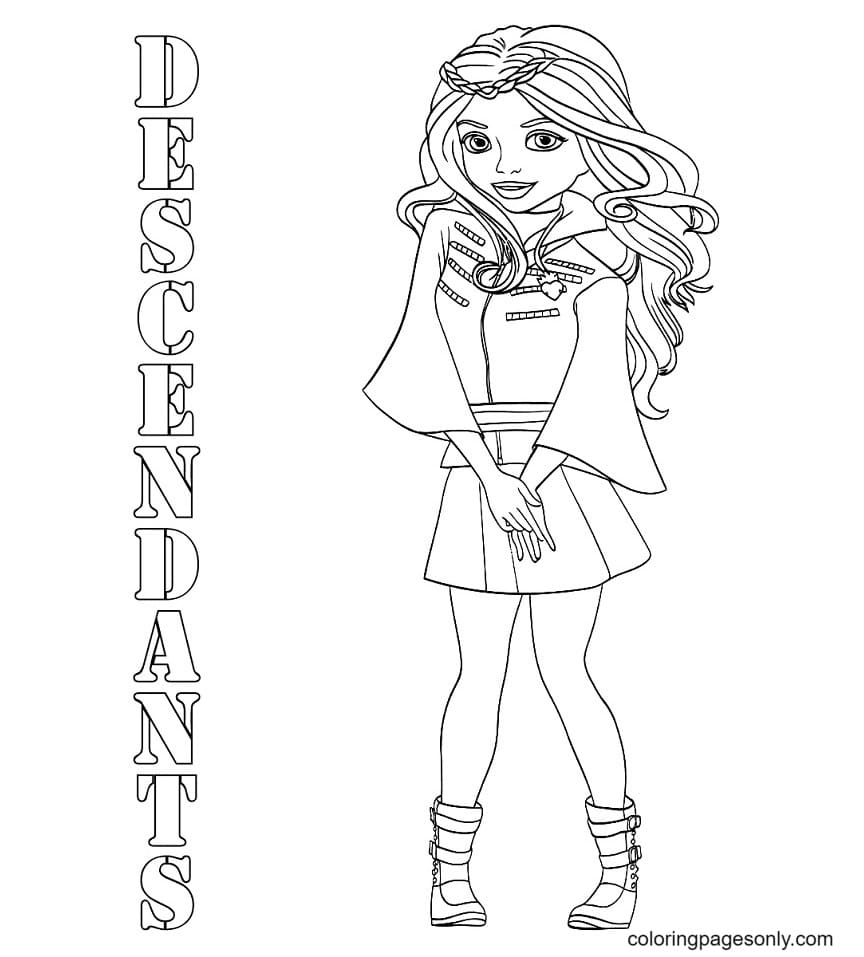 Evie Beutiful in Descendents Coloring Page