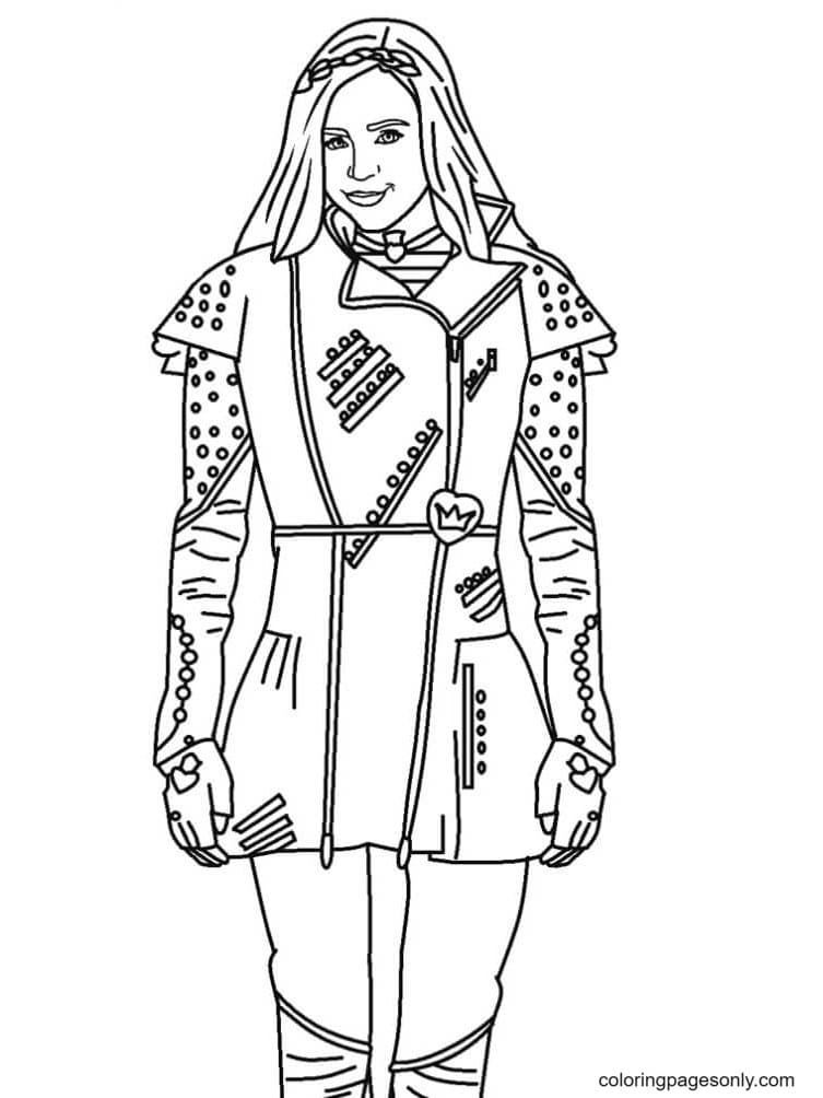 Evie Descendents Coloring Page