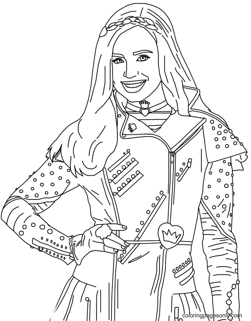 Evie from Disney Descendants Coloring Page