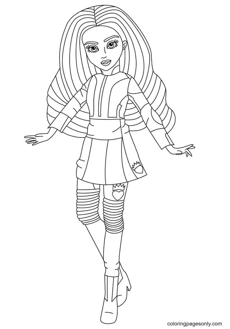 Evie in Descendents Coloring Page