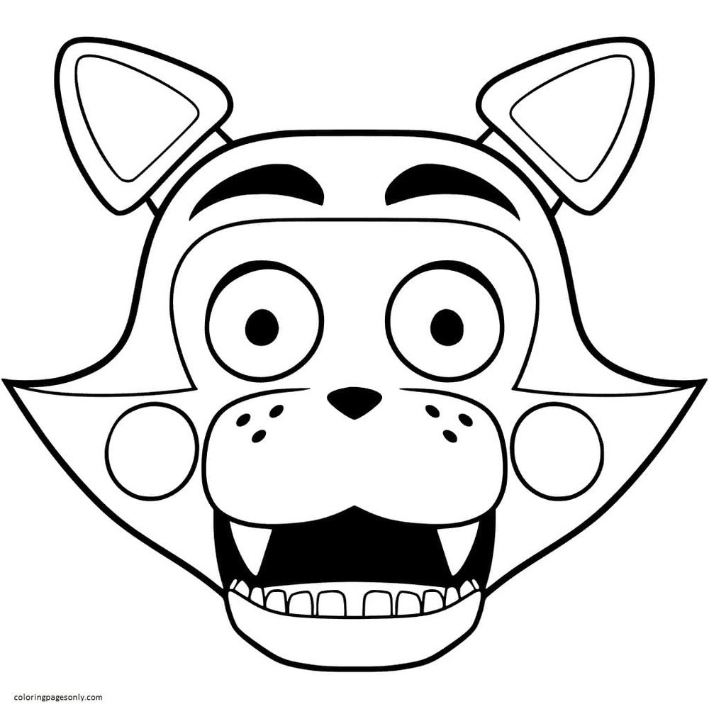 FNAC Candy the Cat Coloring Page