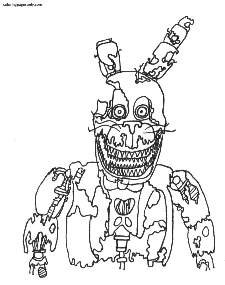 FNAF Toy Bunnies Coloring Page