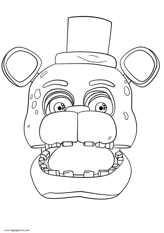 FNaF Freddy Portrait Coloring Page