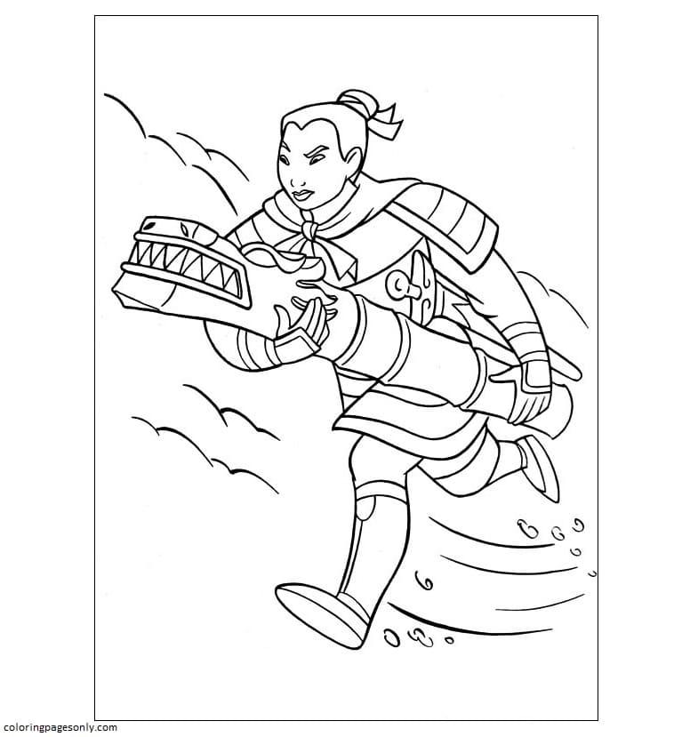 Fa Mulan Coloring Page