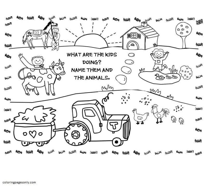 Farm Animal 2 Coloring Page