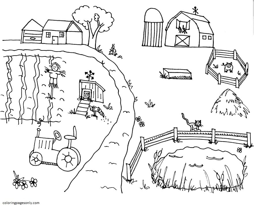 Farm Animal 3 Coloring Page
