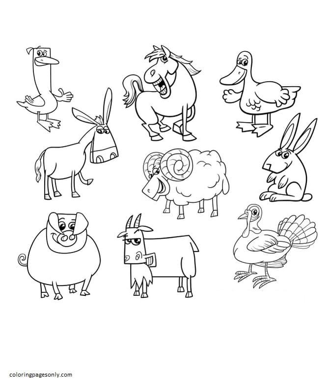 Farm Animal 4 Coloring Page