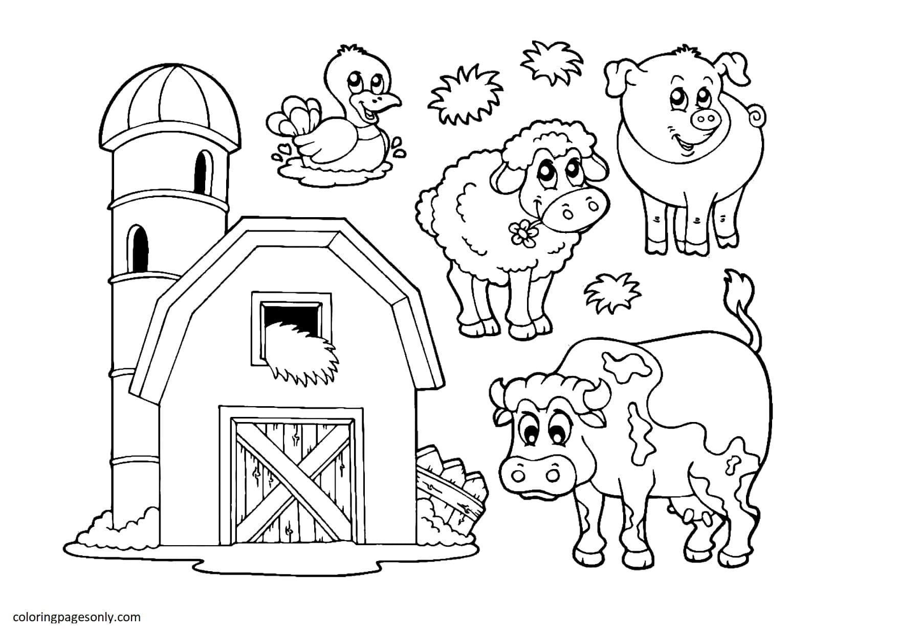 Farm Animal 5 Coloring Page