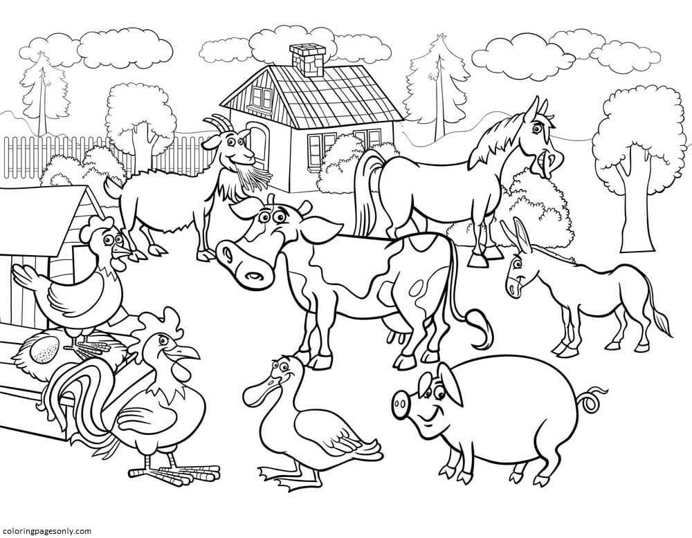 Farm Animal 6 Coloring Page