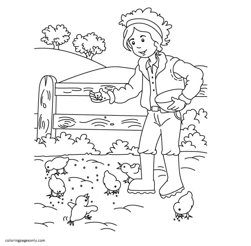 Farm House Coloring Page