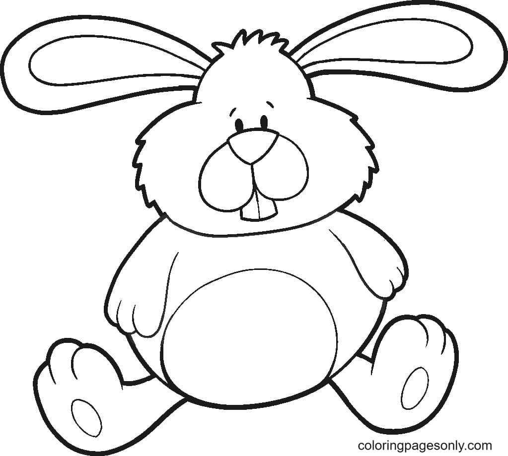 Fat Rabbit Coloring Page