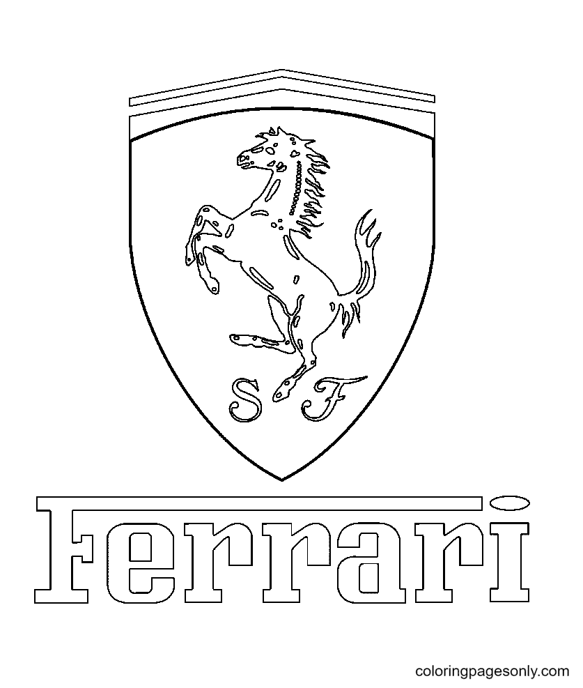 Ferrari Logo Coloring Page