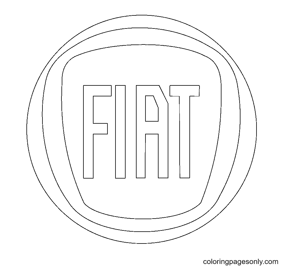 Fiat Logo Coloring Page